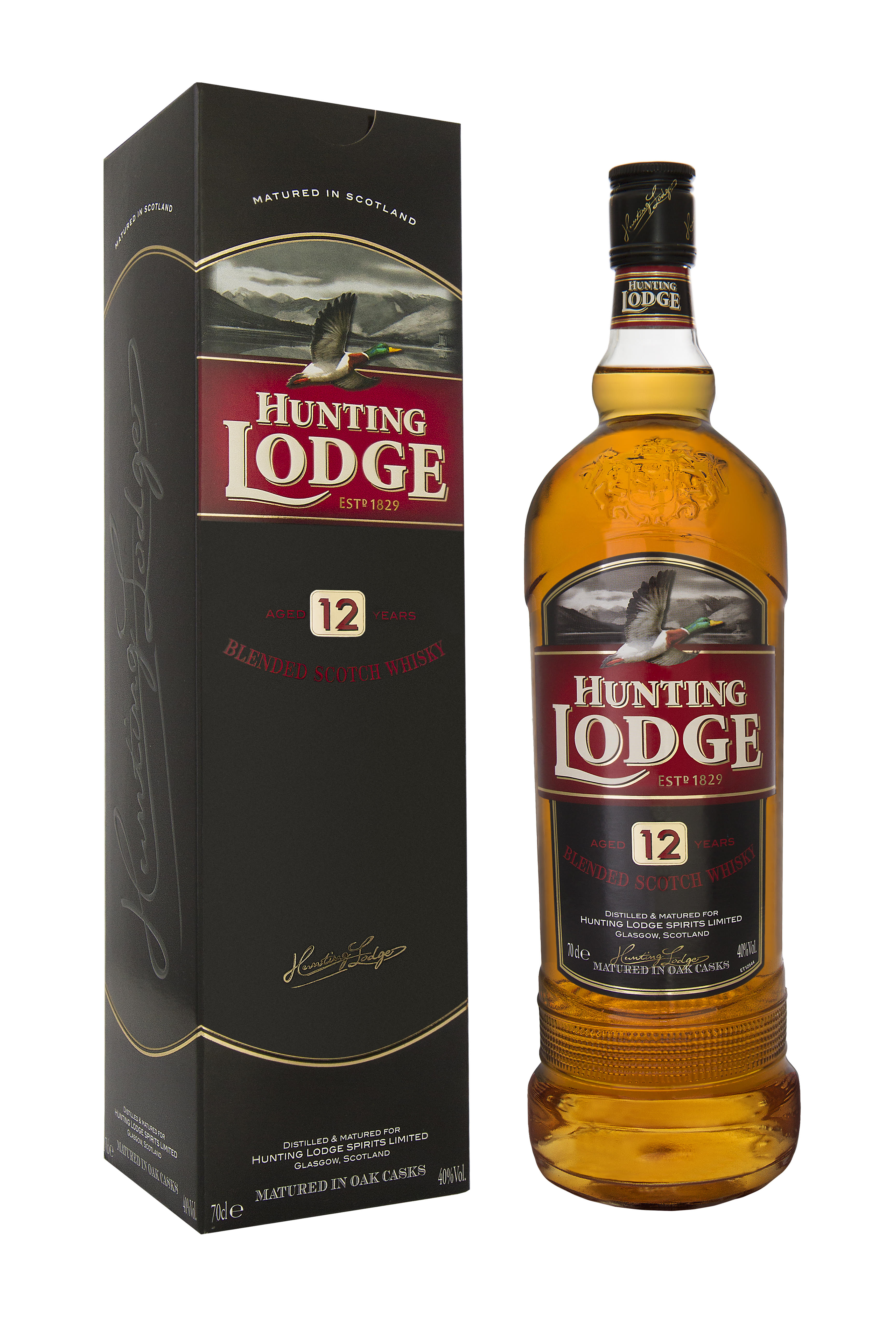 Hunting Lodge Blended Scotch Whiskey 12 y.o. + GBX