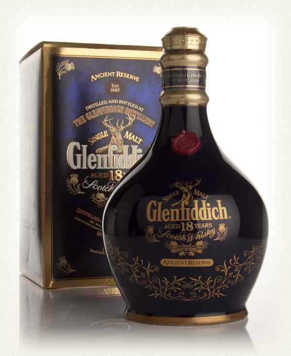 Glenfiddich 18 Years old Decanter 1980's Blue